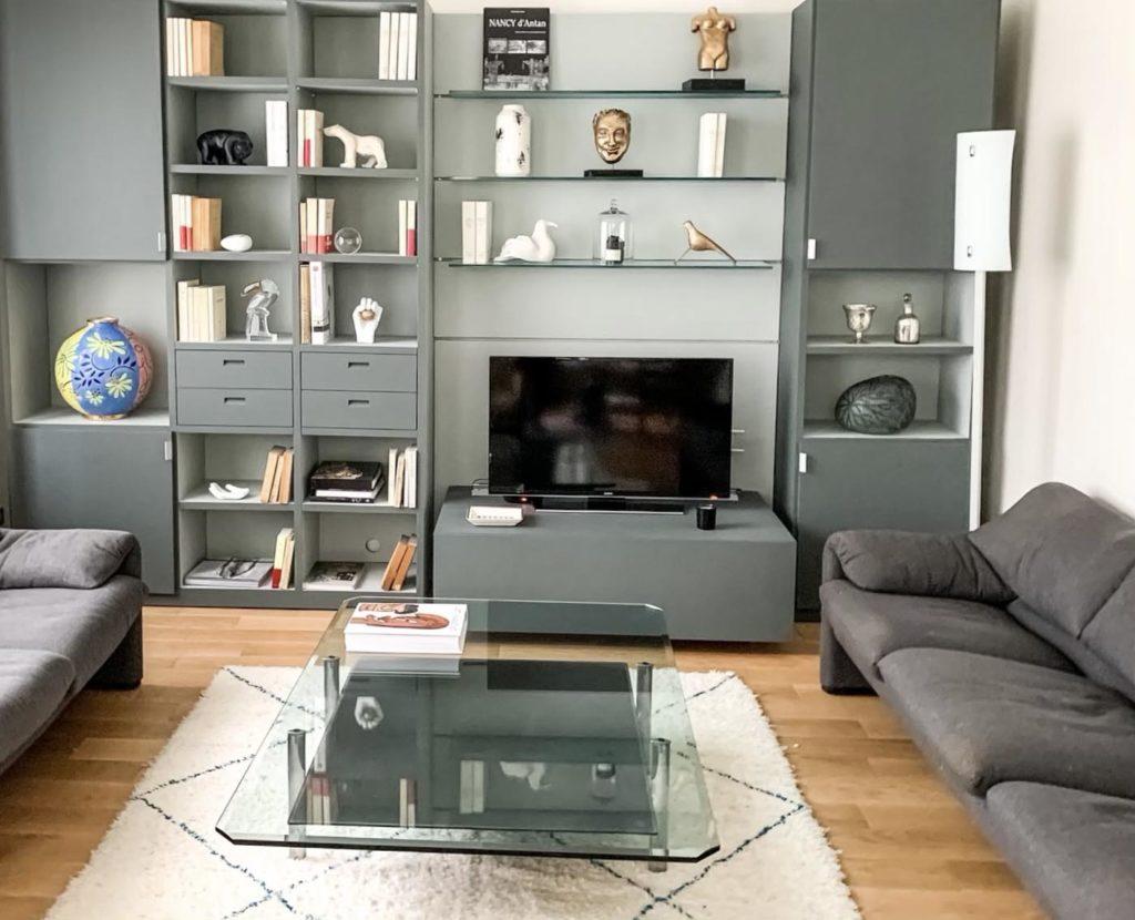 Meuble TV après | Maison 604 - Agence de conseil en décoration d'intérieur et design d'espace dans la région de Nancy et Paris.